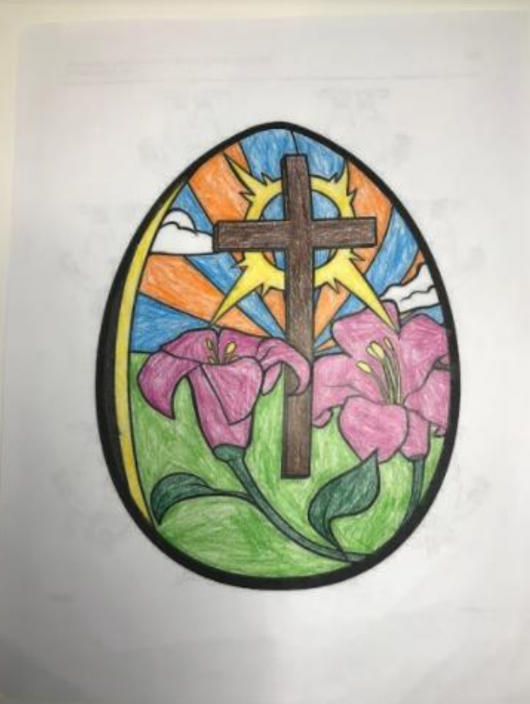 pysanky colouring contest 1st place Jaron